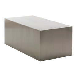 Nuevo Living - Tucson Coffee Table Stainless Steel by Nuevo - The Tucson Coffee Table by Nuevo is a minimalistic rectangle of