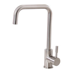 Elite - Elite K04SN Satin Nickel Single-handle Kitchen Faucet - The Elite kitchen faucet features a single-handle design and a satin nickel finish that makes it an ideal choice for any home decor. This faucet also highlights a brass and stainless steel construction and is water pressure tested for industry standards.