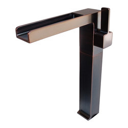 Eden Bath - Eden Bath FM001VRB Cascada Waterfall Vessel Faucet - Oil Rubbed Bronze - Cascada faucets from Eden Bath are inspired by cascading waterfalls that seem to drop endlessly off of tall cliffs. The wide mouth spout enables a slow but steady stream of water to run through its channel then fall into your basin, providing a phenomenal waterfall effect. The Cascada vessel faucet features a spout height of almost 11â and can be used with nearly any vessel sink. The faucet is crafted from solid brass and features a ceramic disc cartridge and durable finish.
