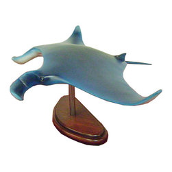 Manta Ray Statue on Base, 2.5FT -