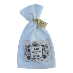 Age Improves with Wine    Flour Sack Towel  Set of 2 - A fabulous set of 3 flour sack towels. This set features a great saying�.Age Improves with Wine.   These towels are printed in the USA by American Workers!