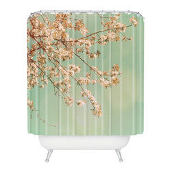 DENY Designs - Happee Monkee Plum Blossoms Shower Curtain - Who says bathrooms can't be fun? To get the most bang for your buck, start with an artistic, inventive shower curtain. We've got endless options that will really make your bathroom pop. Heck, your guests may start spending a little extra time in there because of it!