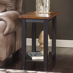 "Signature Design by Ashley - Signature Design by Ashley Paskene Chairside End Table 24"" Height x 14"" Width x - Paskene Chairside End Table 24"" Height x 14"" Width x 23.75"" Depth T680-7"