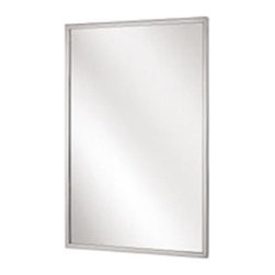 "BRADLEY CORPORATION - Bradley Channel Frame Mirror 18"" x 30"" - Features:"