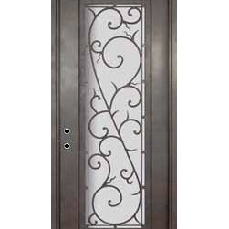 """Bellagio 42x96 Wrought Iron Single Door 14 Gauge Steel - """"SKU#PHBFLSR4-42BrandGlassCraftDoor TypeExteriorManufacturer CollectionBuffalo Forge Steel DoorsDoor ModelBellagioDoor MaterialSteelWoodgrainVeneerPrice4500Door Size Options  $Core Typeone-piece roll-formed 14 gauge steel doors are foam filled  Door StyleTraditionalDoor Lite StyleFull LiteDoor Panel StyleHome Style MatchingMediterranean , Victorian , Bay and Gable , Plantation , Cape Cod , Gulf Coast , ColonialDoor ConstructionPrehanging OptionsPrehungPrehung ConfigurationSingle DoorDoor Thickness (Inches)1.5Glass Thickness (Inches)Glass TypeDouble GlazedGlass CamingGlass FeaturesInsulated , TemperedGlass StyleGlass TextureClear , Glue Chip , RainGlass ObscurityDoor FeaturesDoor ApprovalsWind-load RatedDoor FinishesThree coat painting process"""