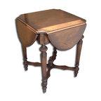EuroLux Home - New Accent Table Oak Oak Stretcher - Product Details