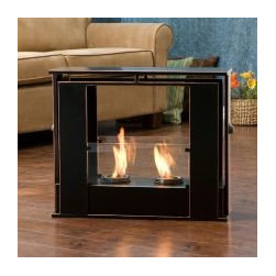 Wesley Indoor/ Outdoor Portable Fireplace - This is a unique piece. The fireplace can be moved around and used indoors and out. It reminds me of the see-through fireplaces you see in some houses. I think it's a great alternative to the traditional firepit.