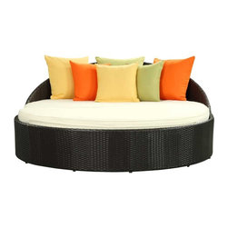 Modway - Mystique Daybed in Espresso White - Beyond the present plane of reality lies a dimension above imagination. Mystique accelerates dreams in a polarity-driven motif that synthesizes counter forces. From progress to retreat, flights of fancy to backward withdrawals, lean back and enjoy the present moment thoroughly. Mystique is comprised of UV resistant rattan, a powder-coated aluminum frame and all-weather cushions. The set is perfect for cafes, restaurants, patios, pool areas, hotels, resorts and other outdoor spaces.