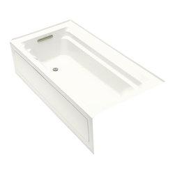 KOHLER - KOHLER K-1124-GLA-0 Archer 6' BubbleMassage Bath with Comfort Depth Design - KOHLER K-1124-GLA-0 Archer 6' BubbleMassage Bath with Comfort Depth Design, Integral Apron and Left-Hand Drain in White