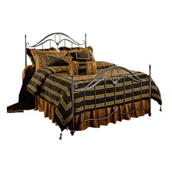 Hillsdale Furniture - Hillsdale Kendall Panel Bed - King - Defined by its details, the Kendall bed is Imperial and elegant. The intricate castings, dramatically sweeping lines and uniquely shaped finials combine to create a sense of artistry.