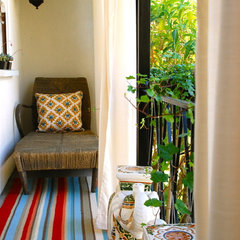 eclectic porch by Lisa Borgnes Giramonti