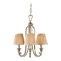 Feiss - Feiss Abbey 3-Light Mushrooms Pleated Hardback Shade Silver Sand up Chandelier - This 3-Light up Chandelier is part of the Abbey Collection and has a Mushrooms pleated Hardback Shade and a Silver Sand Finish. It is Dry Rated.