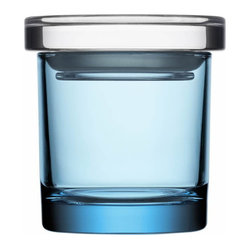 "Glass Jars 2.9"" x 3"" Light Blue"