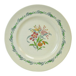 Lavish Shoestring - Consigned 6 Large Dinner Plates w/ Fairfield Floral Decoration by Royal Doulton - This is a vintage one-of-a-kind item.