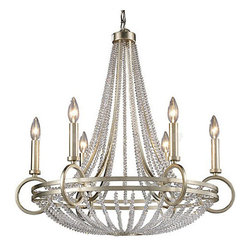 Country Iron and Crystal 6/8 Lights Chandelier - Country Iron and Crystal 6/8 Lights Chandelier