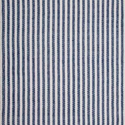 Hook & Loom Rug Company - Chester Denim/White Rug, Denim/White, 3'x5' - Very eco-friendly rug, hand-woven with yarns spun from 100% recycled fiber.  Color comes from the original textiles, so no dyes are used in the making of this rug.  Made in India.