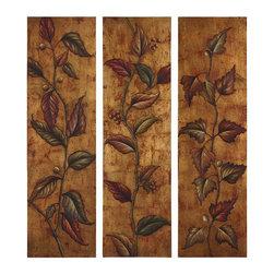 Uttermost - Uttermost Climbing Vine Art Panels Set/3 - 32156 - Uttermost Climbing Vine Art Panels Set/3 - 32156