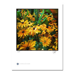 """London Flowers 03, Limited Edition, Photograph - """"London Flowers 03 is the third in a series of flower photographs taken on a rainy day in London at Victoria Gardens along the Thames River.   Technical Information:  This is a limited edition photograph produced on Epson Premium Presentation Fine Art Matte Media using an archival pigment. Each photograph is produced, signed and numbered by the artist. Only one hundred or fewer prints are produced in each series. Prints are delivered in a crystal clear presentation sleeve supported with a white backing board.   On 8.5 x 11 media the printed image is 7 x 7 inches, leaving a three quarter inch white border on three sides with a weighted bottom. This white border allows for for easy framing with or without a matte. Perfect for small spaces that need a splash of unique artistry.  Please feel free to contact me with any additional questions you may have."""""""