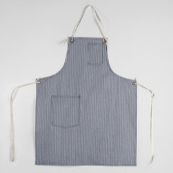 Standard Apron With Cloth Straps - Gardening is messy. Protect your clothes with a full-body apron, such as this one from Stanley & Sons. Not only will it keep your clothes clean, but the pockets can keep you organized and your tools within reach.