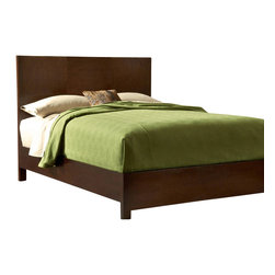 Modus Furniture - Modus Modera Panel Bed in Chocolate Brown - King - The combination of sleek lines, oversized drawers and quality construction make Madera from Modus the ultimate value statement in bedroom furniture.