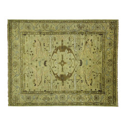 Manhattan Rugs - New Unique Oriental Hand Knotted Oushak 12'x15' Light Green Wool Area Rug H3486 - This is a true hand knotted oriental rug. it is not hand tufted with backing, not hooked or machine made. our entire inventory is made of hand knotted rugs. (all we do is hand knotted)