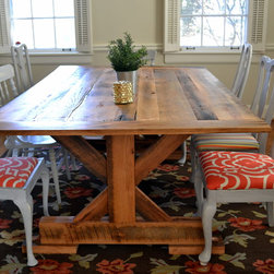 Reclaimed Oak Dining Table -