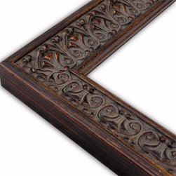 The Frame Guys - Romance Brown/Gold Picture Frame-Solid Wood-8x10 - *Romance Brown/Gold Picture Frame-Solid Wood-8x10