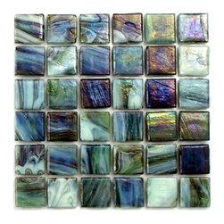 Hakatai calliope garden - Glass tile mosaic by Hakatai
