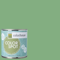 ColorSpot Eggshell Interior Paint Sample, Thrive .05,  8-oz - Test color before you paint with the Colorhouse Colorspot 8-oz  paint sample. Made with real paint and in our most popular eggshell finish, Colorhouse paints are 100% acrylic with NO VOCs (volatile organic compounds), NO toxic fumes/HAPs-free, NO reproductive toxins, and NO chemical solvents. Our artist-crafted colors are designed to be easy backdrops for living.