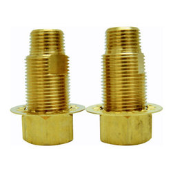 Kingston Brass - 3/4in. Brass Adaptor - Designed to convert 3/4in. fip to 1/2in. fip, it is also required in cases where deck adapters are needed, its a perfect coupling between supply lines and deck elbows.