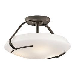 Kichler Lighting - Kichler Lighting 42063OZ Transitional Semi Flush Mount Ceiling Light - Kichler Lighting 42063OZ Transitional Semi Flush Mount Ceiling Light