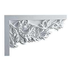 """Ekena Millwork - 11 3/4""""W  x 7 7/8""""H x  3/4""""P Attica Large Stair Bracket, Right - 11 3/4""""W  x 7 7/8""""H x  3/4""""P Attica Large Stair Bracket, Right. With the beauty of original and historical styles, decorative stair brackets add the finishing touch to stair systems. Manufactured from a high density urethane foam, they hold the same type of density and detail as traditional plaster stair bracket products. They come factory primed and can be easily installed using standard finishing nails and/or polyurethane construction adhesive."""