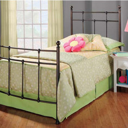 Hillsdale - Providence Metal Bed - The Providence Bed has a traditional style featuring elegant ball finials and dainty castings on the grill. The footboard has a gentle bow shape from post to post, bring style and class to your bedroom. Features: -Soft brownish bronze base washed with a deep brown top Coat.-Ball shape finials.-Fully casted construction.-Recommended care: Dust frequently using a clean, specially treated dusting cloth that will attract and hold dust particles. Do not use liquid or abrasive cleaners as they may damage the finish..-Distressed: Yes.-Collection: Providence.Dimensions: -Overall Product Weight: 91.5 lbs. About the Manufacturer: About Hillsdale House Furniture Located in Louisville, KY, Hillsdale House Furniture has produced an enormously popular collection of bedroom and accent furniture. Hillsdale House items are constructed of quality materials and offered at an affordable price. We are an authorized dealer of the full line of Hillsdale House furniture; if you can''t find a specific Hillsdale piece, give us a call!