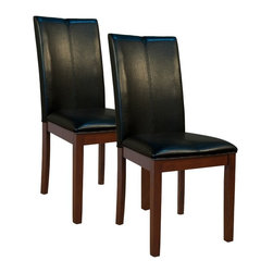 A-America - A-America Parsons Curved Back Dining Side Chair - Espresso - Set of 2 - AAME055 - Shop for Dining Chairs from Hayneedle.com! Double stitching and a curved back make the A-America Parsons Curved Back Dining Side Chair - Espresso - Set of 2 an updated version of a classic parsons chair. This set includes two parsons side chairs with tall backs and no-sag spring seating decks. Solid hardwood legs have an espresso finish. Faux leather upholstered seats and backrests are available in select color options. About A-America Inc.At A-America Inc. it's all about the wood. A pioneer in the furniture industry A-America Inc. delivers solid quality and solid value in solid wood. This company was founded by brothers Fred and John Rohrbach in 1973 as Asia-America Co. They quickly expanded from importing ceramics to antique reproductions and nostalgic oak furniture. A-America Inc. established itself as a leading provider of high-quality imported furniture. Buying furniture from A-America is making a responsible decision to help maintain a healthier planet. They use solid hardwoods and time-honored craftsmanship to build premium-quality furniture. A-America uses American hardwoods like alder ash oak cherry and hickory which reproduce quickly. Currently nearly twice as much American hardwood grows each year than is harvested. The Asian hardwoods A-America uses include mahogany and New Zealand pine. These are plantation-grown legally harvested plus certified and controlled under the Lacey Act Standards.