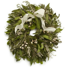 Traditional Holiday Decorations Rosemary Bay Wreath