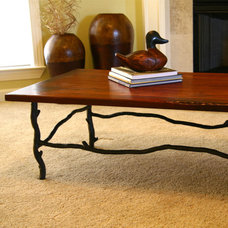 eclectic coffee tables by Iron Accents