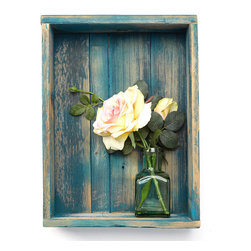 (del)Hutson Designs - Reclaimed Shadow Box, Turquoise Wash - These shadow boxes bring style and originality to any home. The reclaimed wood not only saves a tree but also adds texture and beauty to your walls. We lightly sand the the wood to bring out the lighter under coat.