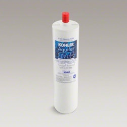 KOHLER - KOHLER Aquifer(R) premium refill filter cartridge - Invest in pure water by placing the Aquifer filtration system discreetly underneath your sink. This filter cartridge quickly twists in and out with a quarter turn, making it easy to replace. In addition, this cartridge filters out volatile organic chemica