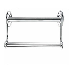 Top Knobs - Top Knobs: Hudson Bath 24 Inch Double Towel Rod - Polished Chrome - Top Knobs: Hudson Bath 24 Inch Double Towel Rod - Polished Chrome