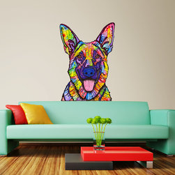 My Wonderful Walls - Dogs Never Lie German Shepherd Wall Sticker - Decal Pop Out, Small - - Dogs Never Lie German Shepherd graphic by Dean Russo