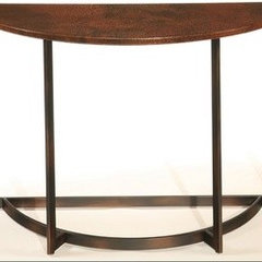 Hammary Nueva Sofa Table in Aged Copper | Accent Furniture Direct