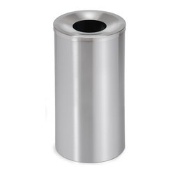 Blomus - Casa Stainless Steel Large Waste Bin - Round in shape. Made of stainless steel. 1-Year manufacturer's defect warranty. 10 in. Dia. x 19.5 in. H