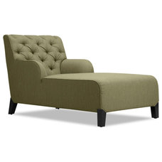 Traditional Indoor Chaise Lounge Chairs Southwark Green Chaise Longue Arm Chair