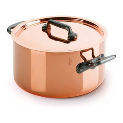 Mauviel - Mauviel M'150c Copper & Stainless Steel Stewpot / Dutch Oven, 6.4 qt. - Bilaminated copper stainless steel (90% copper and 10% 18/10 stainless steel)