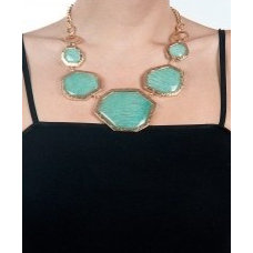 Green amazonite statement necklace available only at Pernia's Pop-Up Shop.