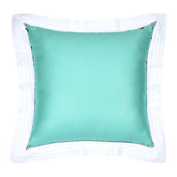 Sateen Tiffany Blue Flange Pillow
