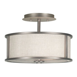 Kenroy Home - Kenroy Home 91582BZG Whistler 2-Light Semi Flush Light - 14W in. Bronze Finish - - Shop for Ceiling Mounted Lighting from Hayneedle.com! Lamps aren't just for tables anymore as the Kenroy Home 91582BZG Whistler 2-Light Semi Flush Light - 14W in. Bronze Finish elegantly proves. The textured linen drum shade is embedded in a uniquely modern fixture with a warm bronze gilt finish. Designed to hang close to the ceiling this light is perfect for smaller rooms that are big on style.About Kenroy HomeEmployee-owned Kenroy Home creates a large range of lighting and home decor products. Having recently purchased Hunter Lighting Group Kenroy Home is now positioned to expand their product lines and take their customer focus to the next level. With an experienced team and advanced equipment Kenroy Home provides an unparalleled spectrum of products and services. Trained designers and technicians create functional works of art that exceed appearance and performance expectations. Their craftsmanship matches materials and finishes to each application for showroom quality at superior values. Product collections are designed to facilitate mix-and-match coordination.