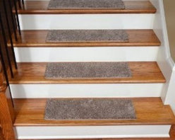 "Dean Flooring Company - Dean Premium Super Soft 50 oz. Plush Carpet Stair Treads - Hudson Tweed (13) - Dean Premium Super Soft 50 oz. Plush Carpet Stair Treads - Hudson Tweed (13) : Premium Super Soft 50 oz. Plush Carpet Stair Treads by Dean Flooring Company Color: Hudson Tweed (Beige and Brown) Set includes thirteen stair treads plus one roll of double-sided tape for easy, affordable do-it-yourself installation. Each tread measures approximately 27"" x 9"". Color matching finished edges. Also easy to spot clean and vacuum. Helps prevent slips on your hardwood stairs. Great for helping your dog easily navigate your slippery staircase. Reduces noise. Reduces wear and tear on your hardwood stairs. Attractive: adds a fresh new look to your staircase. Easy DIY installation with double sided carpet tape (included). High quality super soft 50 oz. stain and odor resistant carpeting with antimicrobial protection. Add a touch of warmth and style to your home today with stair treads from Dean Flooring Company!"