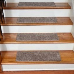 """Dean Flooring Company - Dean Premium Super Soft 50 oz. Plush Carpet Stair Treads - Hudson Tweed (13) - Dean Premium Super Soft 50 oz. Plush Carpet Stair Treads - Hudson Tweed (13) : Premium Super Soft 50 oz. Plush Carpet Stair Treads by Dean Flooring Company Color: Hudson Tweed (Beige and Brown) Set includes thirteen stair treads plus one roll of double-sided tape for easy, affordable do-it-yourself installation. Each tread measures approximately 27"""" x 9"""". Color matching finished edges. Also easy to spot clean and vacuum. Helps prevent slips on your hardwood stairs. Great for helping your dog easily navigate your slippery staircase. Reduces noise. Reduces wear and tear on your hardwood stairs. Attractive: adds a fresh new look to your staircase. Easy DIY installation with double sided carpet tape (included). High quality super soft 50 oz. stain and odor resistant carpeting with antimicrobial protection. Add a touch of warmth and style to your home today with stair treads from Dean Flooring Company!"""