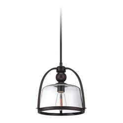 "Rustic - Lodge Quoizel Piccolo 11 1/2"" Wide Bronze Mini Pendant Light"